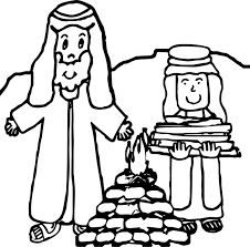 abraham sarah fire coloring wecoloringpage