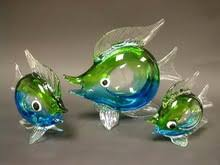 floating glass fish decoration floating glass fish decoration