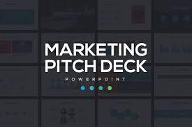 marketing pitch deck powerpoint presentation templates