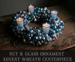 nut u0026 glass ornament advent wreath centerpiece featuring camilla