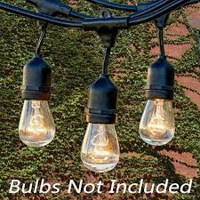 Hanging String Lights by Fetoo 33 Feet Outdoor Weatherproof String Lights Heavy Duty With