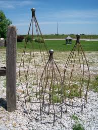 wrought iron ball top garden obelisk