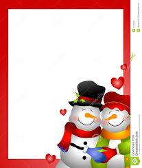snowman snow woman couple border royalty free stock photos image