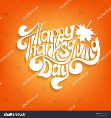 happy thanksgiving card vector white inscription happy thanksgiving day stock vector