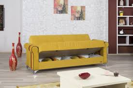 life sofa bed in mustard fabric by casamode