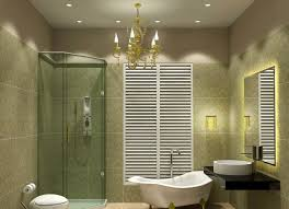 bathroom lighting ideas ceiling dark golden brass crystal pendant