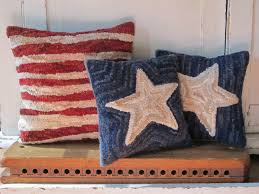 Primitive Hooked Rugs Stars And Stripes Primitive Rug Hooking Pattern Instant Download