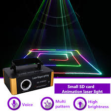 aucd 500mw rgb laser small sd card program dmx animation projector