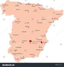Zaragoza Spain Map by Map Region Yecla Spain Stock Vector 239582749 Shutterstock