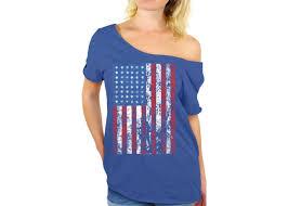 Kenya Flag Clothing Usa Distressed American Flag Off Shoulder Tops T Shirts Usa