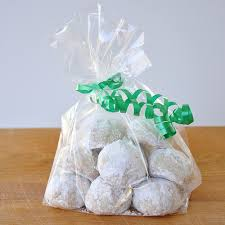 christmas cookie gift bag recipes pinterest snowball cookies