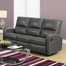 Sofa Canada Dana Bonded Leather Sofa In Grey Reclining Modern Sofa Canada