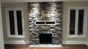 stone facing gas fireplace surround kits amazing for stone facing