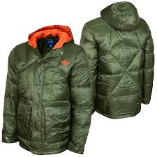 adidas rpstp down men winter jacket olive orange at hoodboyz