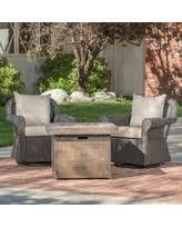 Patio Furniture With Gas Fire Pit by Fire Pit Sets Outdoor U0026 Patio Conversation Sets Bhg Com Shop