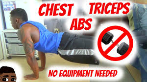 Bedroom Workout No Equipment Killer Home Chest Tricep Ab Workout No Equipment Youtube