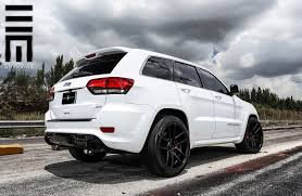 gray jeep grand cherokee with black rims jeep grand cherokee srt on black custom wheels by exclusive