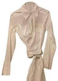 dvf blouse diane furstenberg crisp white dvf blouse size 6 s tradesy