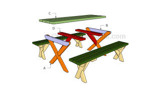 Plans For Outdoor Picnic Table by How To Build A Picnic Table With Separate Benches