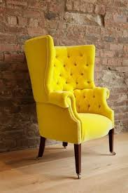 Overstuffed Armchair Endearing Yellow Arm Chair With Best 25 Yellow Chairs Ideas On