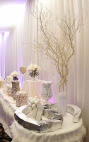 Candy Buffet Apothecary Jars by This Wedding Candy Buffet Demonstrates The Power Of All White See