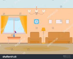 vector illustration cartoon background living room stock vector