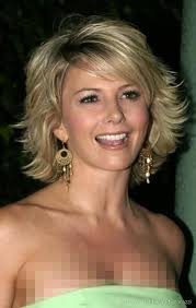 tamie sheffield in cute flippy sideswept highlighted short hair
