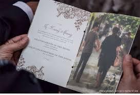 Wedding Program Printing Cece Of New York Invite With Belluccia Debi Sementelli