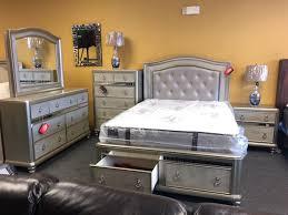 platform bling metallic bedroom set dresser mirror nightstand