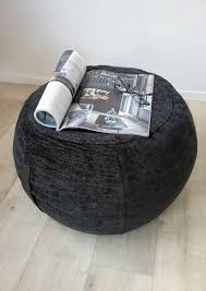 bean bag chair with ottoman ottoman pouf black color pouf round pouf beanbag pouf bean bag