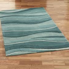 Area Rugs Blue Landscapes Wool Area Rugs