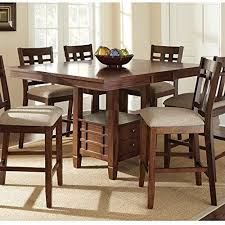 counter height table with butterfly leaf steve silver company bolton counter height dining table with