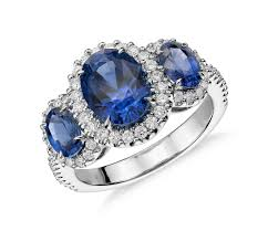 zirconia stone rings images 4 30 ct tw three stone sapphire and cubic zirconia halo ring in jpg