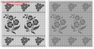 free filet crochet pattern curtains with flowers free filet