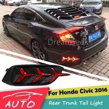 honda civic spoiler brake light for 2016 2017 honda civic sedan led tail light rear trunk spoiler