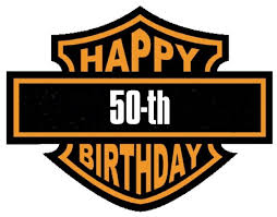 harley davidson 50th birthday in my case 30th lol 50th bday