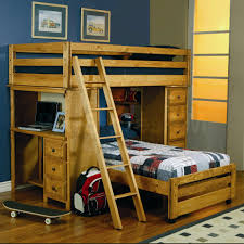 Wooden Loft Bed Diy by Best Loft Bed With Desk Plans Design Ideas U0026 Decors