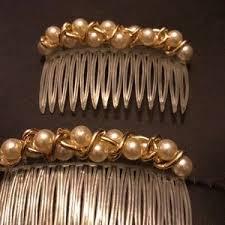 pearl hair accessories vintage vintage faux pearl hair accessories from s closet