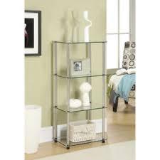 glass shelving unit ebay