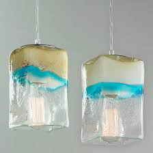 Teal Glass Chandelier Glass Pendant Lights Clear U0026 Colorful Glass Shades Of Light