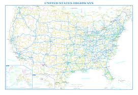 Usa Wall Map by Usa Interstate Highways Wall Map Adorable Map Usa Interstate