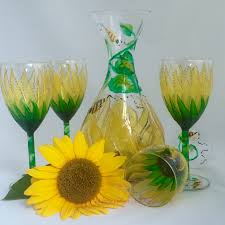 elegant hand painted wedding u0026 bridesmaid wine glasses a wincy