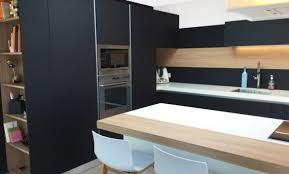 cuisine boulogne billancourt déco cuisine moderne noir et bois 87 boulogne billancourt