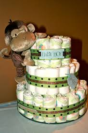 Mod Pod Pop Monkey Crib Bedding by Monkey Diaper Cake For A Baby Shower Baby Shower Ideas