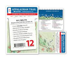 amazon com appalachian trail map at 12 harpers ferry wv