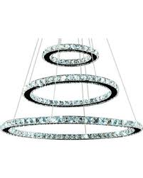 Circle Chandelier Deal On 3 Circle Ring Led Chandelier