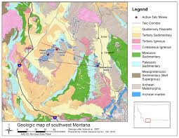 Montana State Map Childs Geoscience Incorporated