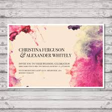 Wedding Invitation Printing Watercolour Wedding Invitation Print At Home File Or Printed