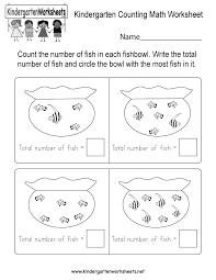 kindergarten counting math worksheet free kindergarten math