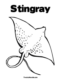 stingray coloring page free download